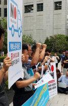 '핫 플레이스' 된일본대사관 앞