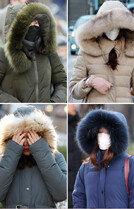 올 겨울 가장 추운 날'중무장'한 시민들