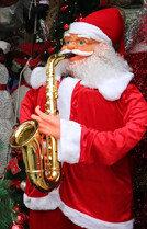 크리스마스 앞둔거리의 풍경