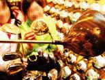 일본 명장이 직접 제작한 1억8000만 원짜리 골프클럽 풀세트인 마루망의 '마제스티 프레스티지오 우루시'. 클럽 표면에 일본의 전통 옻칠 기법인 '우루시'로 산수화를 새겼고, 24K 순금으로 도금했다.[동아일보 변영욱 기자]