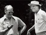 함께 골프를 즐기는 닉슨 전 미국 대통령(왼쪽)과 빌리 그레이엄 목사. [사진 제공·김맹녕]