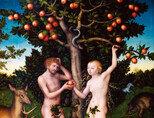 독일화가 루카스 크라나흐의 '아담과 이브'(1530년 경). 선악과를 사과로 형상화 했다.