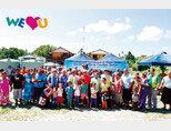 국제위러브유운동본부는 기후난민국가 투발루의 식수부족 문제를 돕고자 1만ℓ 용량의 저수시설 20대를 지원했다.