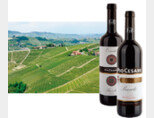 피오 체사레가 보유하고 있는 오르나토 포도밭과 오르나토 싱글 빈야드 바롤로, 피오 체사레를 대표하는 바롤로 DOCG 와인(왼쪽부터).[사진 제공 · 씨에스알와인㈜]