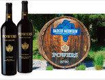 리저브 시리즈 샴푸이 와인과 키오나 와인, 그리고 파워스 와이너리 정문에 놓인 구조물(왼쪽부터). [사진 제공 · ㈜비니더스코리아]