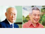 싱가포르의 국부 리콴유 전 총리(왼쪽)와 리셴룽 총리. [스트레이트타임스, 리셴룽 페이스북]