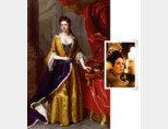 영국 화가 마이클 달이 그린 앤 여왕 초상화(1705년·왼쪽)와 영화 속 앤 여왕(올리비아 콜먼 분). [위키미디어, 사진 제공 · ㈜이십세기폭스코리아]