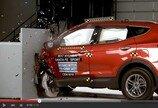 [영상]현대차 싼타페, 美 충돌 테스트 결과 '64km/h 스몰오버랩 테스트'