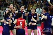 '남북대결 완승' 한국 女배구, 세계선수권 亞 예선 첫 승
