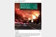 """美 캘리포니아 산불, 패리스 힐튼·리즈 위더스푼도 대피…""""말 그대로 지옥"""""""
