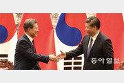 """文대통령-시진핑 """"한반도 전쟁 용납안해""""… 사드 봉인은 못해"""