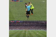 [러시아 월드컵]프랑스vs크로아티아 결승전, 경기장 난입 '제복 관중' 정체는?