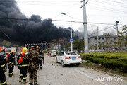 中화학공장 폭발사고 희생자 64명으로 늘어…28명 실종 94명 중상