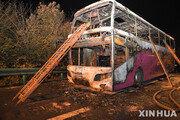 중국 후난성서 주행 관광버스 화재로 26명 숨져…부상자도 28명