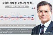 靑·與 지지도 동반상승…文대통령 49.4%·민주당 42.3%