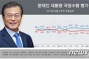 文대통령 국정지지율 48.3%…北미사일·대남 막말에 다시 40%대