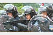 中, 홍콩 10분거리 집결 무장병력 시위진압 훈련 영상 공개