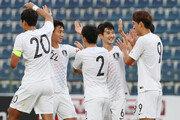 '오세훈 멀티골' 김학범호, 두바이컵에서 바레인 제압