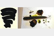 숯가루 물감으로 빚은 먹빛 캔버스… 오징어먹물과 어우러진 블랙의 맛