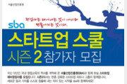 서울시 'sba 스타트업 스쿨 시즌2' 참가자 모집… 신규 일자리 창출 박차