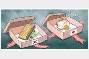 [야마구치의 한국 블로그]韓의 고기 선물과 日의 손수건 선물