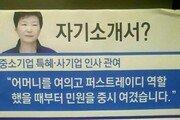 [한눈에 보는 그래픽 뉴스] 朴대통령의 자기소개서(?)