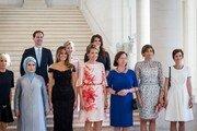 멜라니아 트럼프 여사, 유럽서 활발한 대외활동