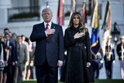 트럼프 대통령, 9.11테러 16주기 추념식에서 묵념