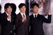[포토] 김윤석-고수-조우진 '남한산성 기대하세요'