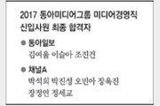 2017 동아미디어그룹 미디어경영직 신입사원 최종 합격자
