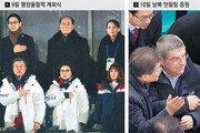 앞뒷줄→같은 줄→옆자리… 조금씩 가까워진 문재인 대통령-김여정