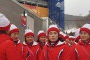 [영상] 평창올림픽 북한 응원단의 우리 선수단 응원
