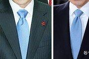 MB, 대선 승리한 날과 같은 하늘색 넥타이