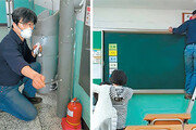 석면 철거공사 했다더니… 교실 곳곳에 부스러기가 그대로