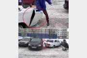 [영상]러시아男의 무개념 주차 응징법…'딱 침범한 만큼만'