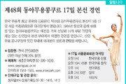 [알립니다]제48회 동아무용콩쿠르 17일 본선 경연
