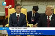 """트럼프, 文대통령 말 '통역 거절' 논란에 靑 """"화기애애한 분위기 속 덕담"""""""