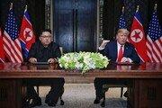 """아사히신문 """"트럼프는 지도자, 김정은은 대등한 모습 연출"""""""