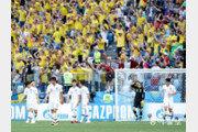 [동아포토] 스웨덴전 실점하는 대한민국…러시아월드컵 1차전