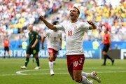 [월드컵] 전반 7분 에릭센 골… 덴마크, 호주에 1-0 리드
