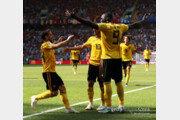 [월드컵] '아자르-루카쿠 골' 벨기에, 2명 부상 튀니지에 전반 3-1 리드