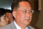 '굳은 표정' 리용호, 남북 회담 거부 배경 질문에 침묵