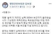 """김부겸 """"태풍 솔릭, 최소 90분 서울 휘젓는단 계산…최악 가정해 대비해야"""""""