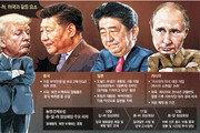 트럼프 빼고 머리 맞댄 中日러시아… 북핵-무역이슈, 美에 각 세우나