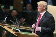 트럼프 유엔 총회 연설서 자화자찬…각국 정상들 '웃음'