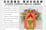 中, 北 노동당 창건 기념일 축하 꽃바구니 보내
