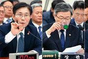 답변하고… 물 마시고… 눈 감고… 국감 나온 장관들