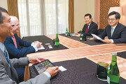 """김동연 """"北 개발-개방에 적극 역할해달라"""" IMF-WB에 요청"""