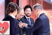 현대 수소車 타고 파리 달린 문재인 대통령, 한국 기술력 직접 홍보