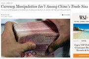 "WSJ ""중국은 환율조작국 아니다"""